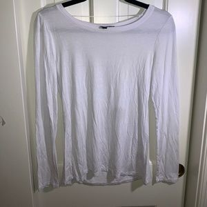 white, long-sleeve top